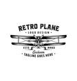 retro plane logo vector image