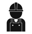 road repair worker icon simple style vector image vector image