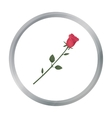 Rose icon in cartoon style isolated on white vector image
