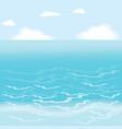 Sea wallpaper vector image vector image