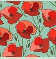 seamless pattern poppy flower vector image vector image