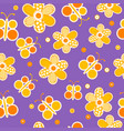 seamless pattern with sewed butterflies and vector image vector image