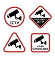 Security camera set stickers vector image vector image