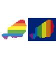 spectrum pixel dotted niger map vector image vector image