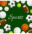 Sports gaming balls poster vector image