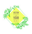 spring and summer template with doodle green vector image