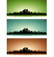 summer cityscape banner set vector image