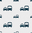taxi icon sign Seamless pattern with geometric vector image