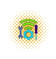 Tools and wifi icon comics style vector image