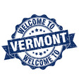 vermont round ribbon seal vector image vector image