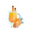 vitamin healthy herbal tea spicy drink with vector image vector image