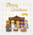 white merry christmas postcard vector image vector image