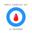 World diabetes day Drop of blood Flat icon vector image vector image
