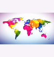 world map design with abstract geometric color vector image