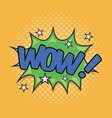 wow wording sound effect vector image