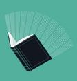 Glowing Book vector image