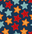 Starfish seamless pattern background of deep-sea vector image