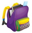 school bag vector image