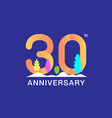 30 years anniversary celebration logotype vector image vector image