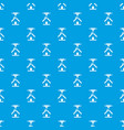 3d printer printing house pattern seamless blue vector image vector image