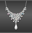 a necklace with her wedding with precious stones vector image vector image