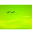 Abstract green background with smooth lines vector image vector image