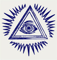All seeing eye vector image vector image