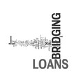 basic loans text word cloud concept vector image vector image