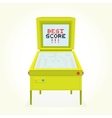 Best score retro pinball game machine vector image vector image