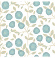 bold round flower seamless pattern design vector image vector image