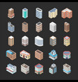 buildings icon pack vector image vector image