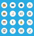 business icons colored line set with engineer vector image vector image