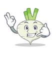 call me turnip mascot cartoon style vector image vector image