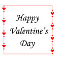 card for valentines day with frame with delicate vector image vector image