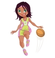 Cartoon Girl Basketball Player vector image