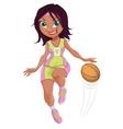 cartoon girl basketball player