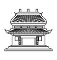 Chinese temple symbol vector image