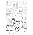 Doodle Flowchart Set vector image
