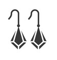 drop earring jewelry icon glyph style vector image vector image