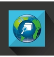 earth global search folder connected media vector image vector image