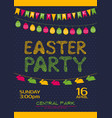 Easter party invitation poster template