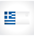 Envelope with Greek flag card vector image