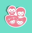 family label vector image vector image