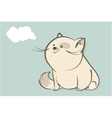 fat white cat and abstract cloud vector image