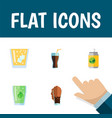 flat icon beverage set of fizzy drink cup soda vector image vector image