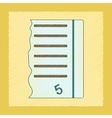 flat shading style icon exam score excellent vector image vector image