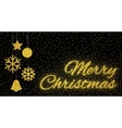 Glitter gold textured inscription Merry Christmas vector image vector image