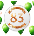 Golden number eighty three years anniversary vector image vector image