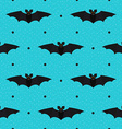 Halloween seamless textured polka dots pattern vector image vector image