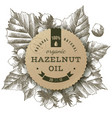 hazelnut oil label vector image vector image